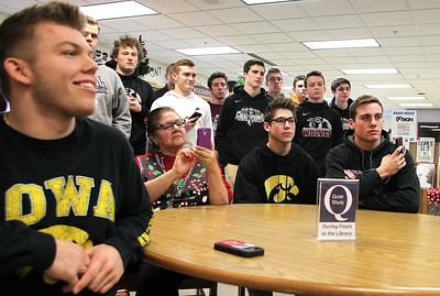 20171220 - Samson Evans and  Jeff Jenkins sign with Iowa (HRB)