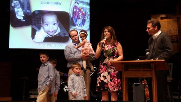 Whitney Jadyn Elizabeth Michelle Turner Baby Dedication