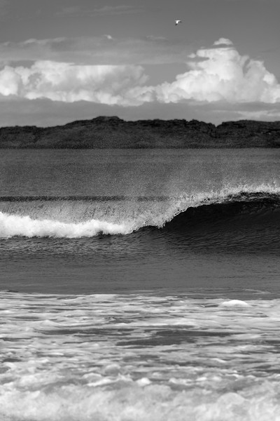 Wave - Whiterocks Beach, Portrush, Northern Ireland, UK - August 17, 2017