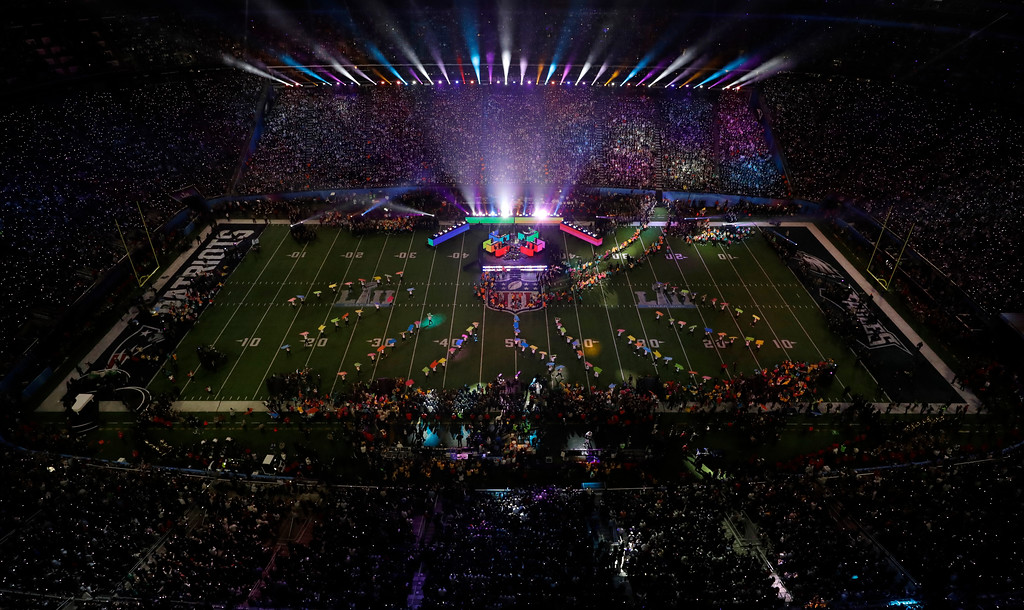 . Justin Timberlake performs during halftime of the NFL Super Bowl 52 football game Sunday, Feb. 4, 2018, in Minneapolis. (AP Photo/Morry Gash)