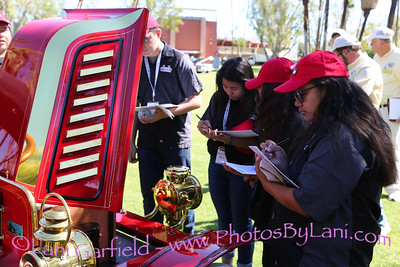 Palm Springs Car Show with students 3/25/17