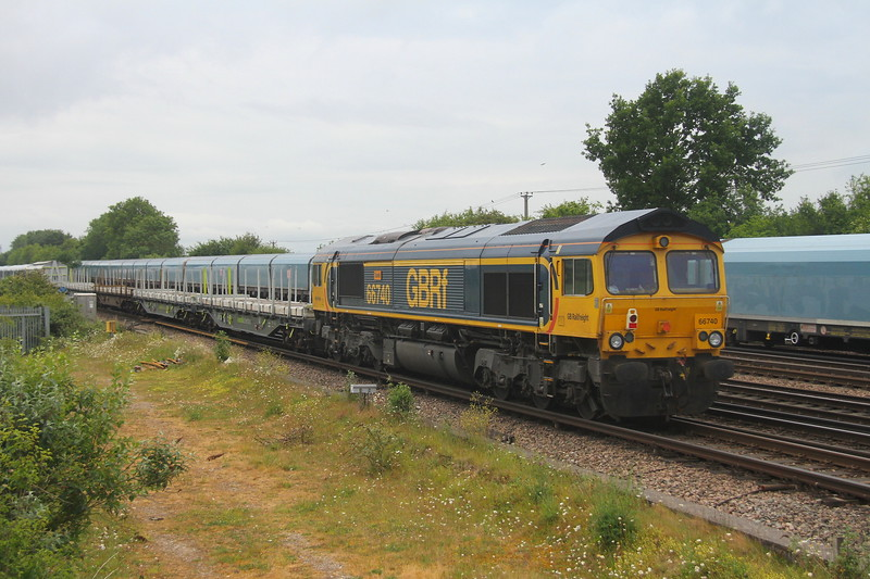 66740 Worting Junction 10/06/20 on the rear of6X20 Derby Litchurch Lane to Eastleigh