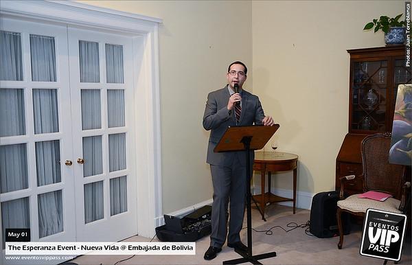 The Esperanza Event - Nueva Vida @ Embajada de Bolivia | Thu, May 01