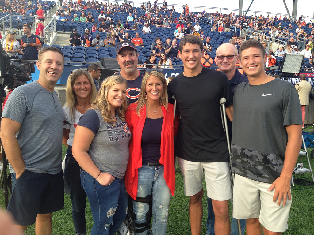 . John Kampf - The News-Herald The Trubisky family takes in the scene before the Hall of Fame game on Aug. 2, 2018.