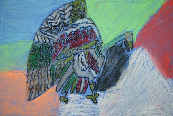 4-5th grade art turkeys . 11.12.10