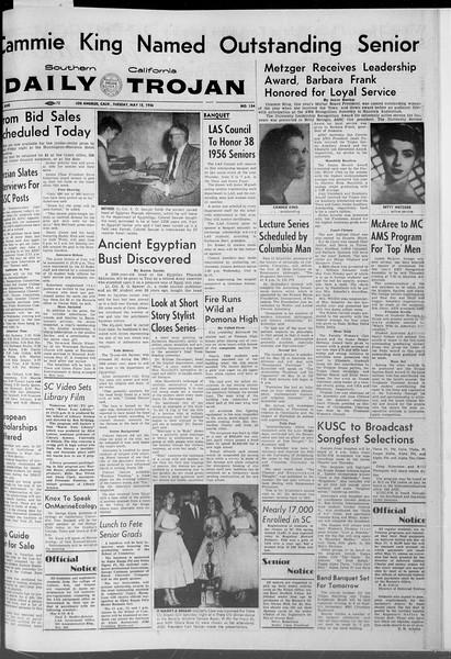 Daily Trojan, Vol. 47, No. 134, May 15, 1956