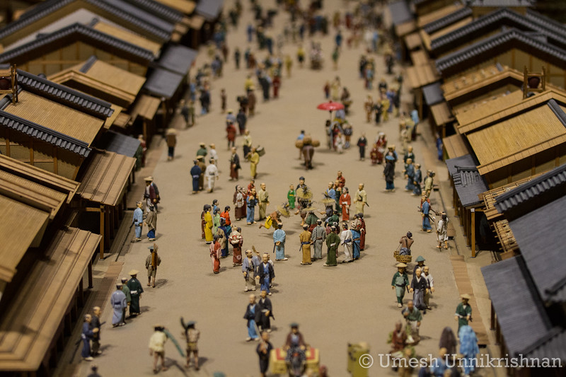 At the Edo museum, where they had miniature recreations of Tokyo from the 17th and 18th centuries