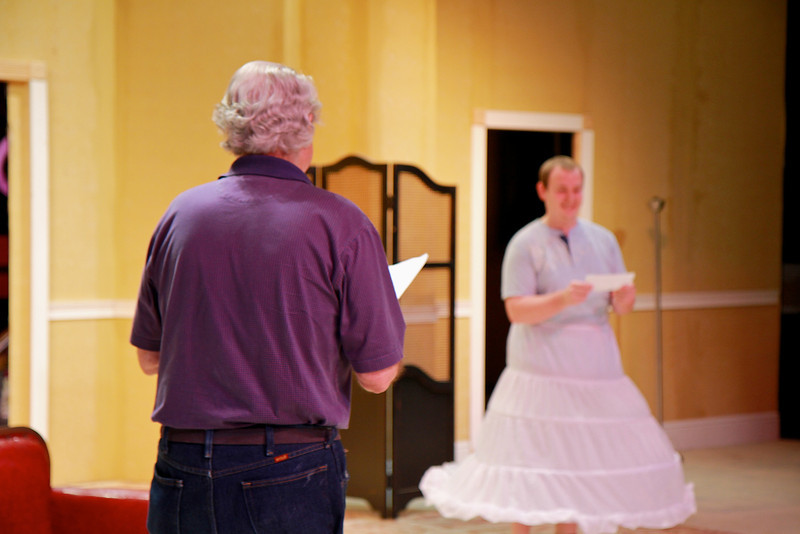"""Rehearsal of the fall theatre production of Mark Twain's """"Is He Dead?"""""""