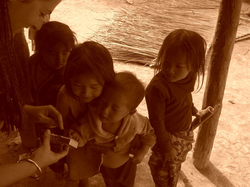 Kids Looking at Camera - Luang Prabang, Laos