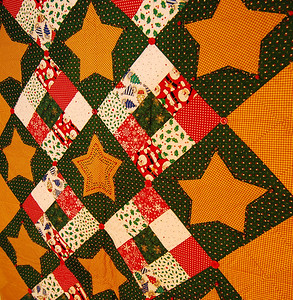 handmade christmas wall hanging/throw