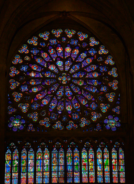 Notre Dame's South Rose Window