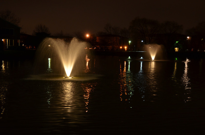 Fountains outside of Erika's house.