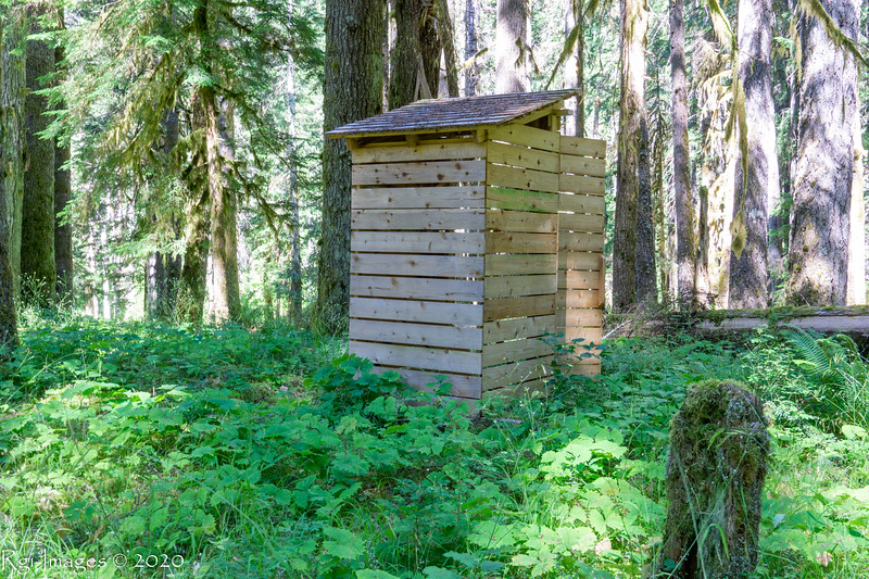 Hays River backcountry crapper 2020, ONP