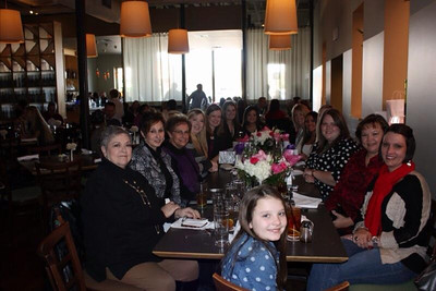 2014 01-25  Marlaina's Bridal luncheon and last nite as a single lady