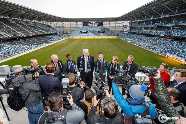 Allianz Field Scarf Raising Ceremony