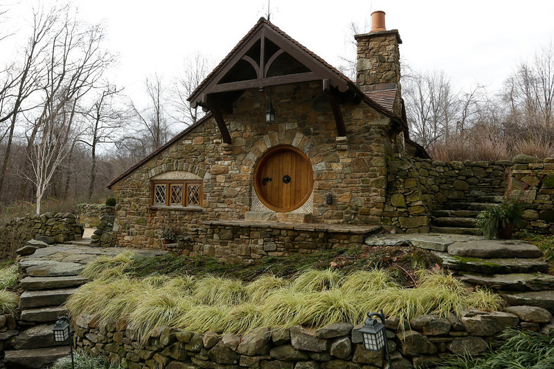 . Shown is an exterior view of the \'Hobbit House\' Tuesday, Dec. 11, 2012, in Chester County, near Philadelphia. Architect Peter Archer has designed a \'Hobbit House\' containing a world-class collection of J.R.R. Tolkien manuscripts and memorabilia. (AP Photo/Matt Rourke)