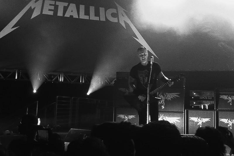 James Hetfield performs Sad But True Metallica, Live at Hangar 8, Santa Monica Airport, CA. 4 November, 2010