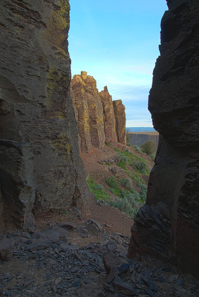 The Feathers at Frenchman Coulee in Eastern Washington. Rock climbing area.