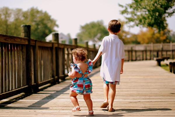 Siblings in the Summer