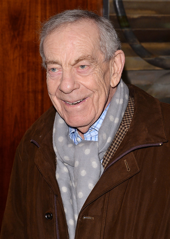 """. Morley Safer attends the \""""The Unknown Known\"""" screening at Museum of Art and Design on March 25, 2014 in New York City.  (Photo by Andrew H. Walker/Getty Images)"""