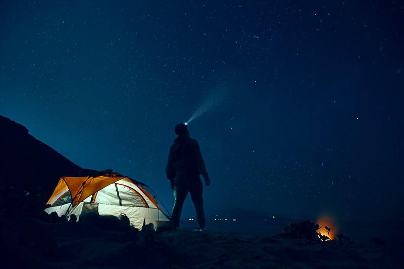 night camping shot