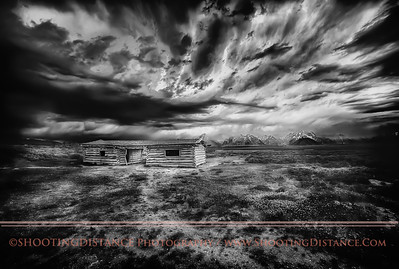 Summer Storm Thunders Toward Abandoned Homestead from the Grand Tetons