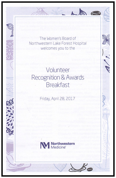NM Lake Forest Hospital Volunteer Recogniton Awards Breakfast, April 28, 2017