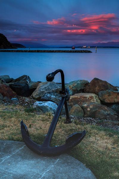 Anchor at Sunset