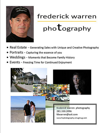 frederick warren photography marketing flyer