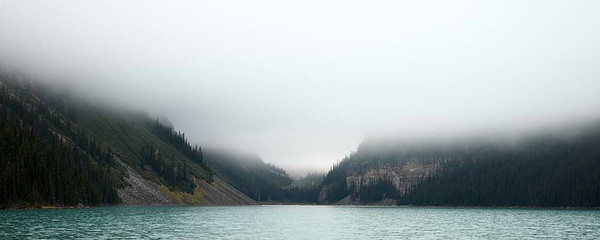 28 September : Lake Louise, AB in and out of clouds