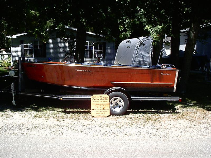 Port side of finished boat.