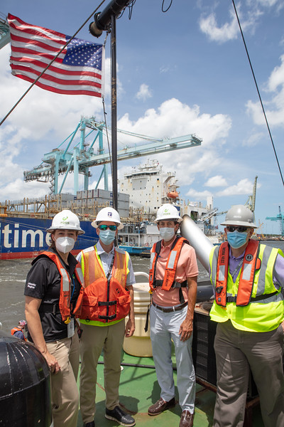 Congressman Rutherford at JAX LNG's 100th bunkering-of TOTE's Marlin Vessels