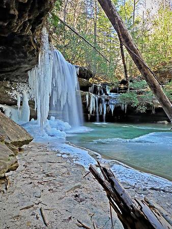 Caney Creek Falls Ice - 1-10-10