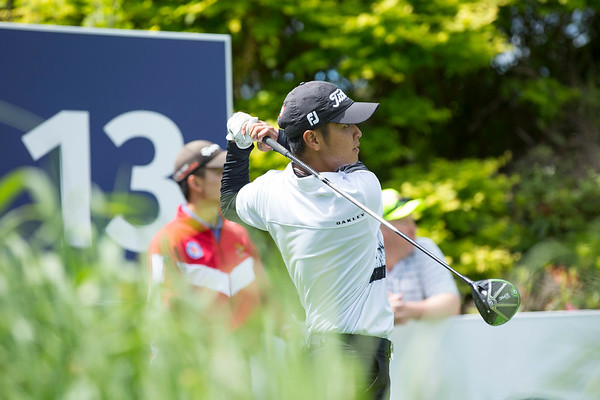 Jonathan Wijono  from Indonesia on Practice Day 1 of the Asia-Pacific Amateur Championship tournament 2017 held at Royal Wellington Golf Club, in Heretaunga, Upper Hutt, New Zealand from 26 - 29 October 2017. Copyright John Mathews 2017.   www.megasportmedia.co.nz