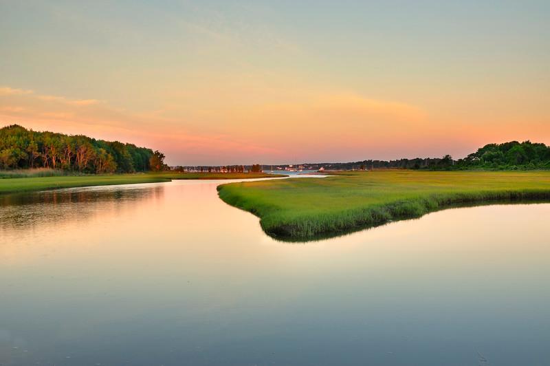 Marshland sunrise, Jamestown Rhode Island