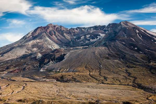Central Cascade Volcanoes: Hood, Jefferson, 3 Sisters, Adams, & Mt St Helens