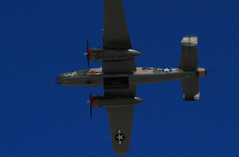 B-25 flyover.