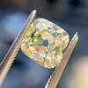 2.10ct Light Yellow Antique Peruzzi Cut Diamond, GIA W-X SI2 2