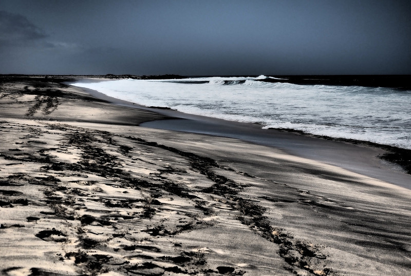 Cape Verde beach.  Utilised the Dramatic Tone art filter on this shot.