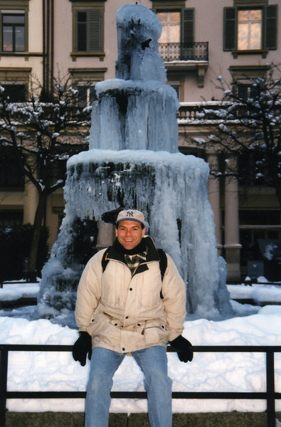 Love this frozen fountain!