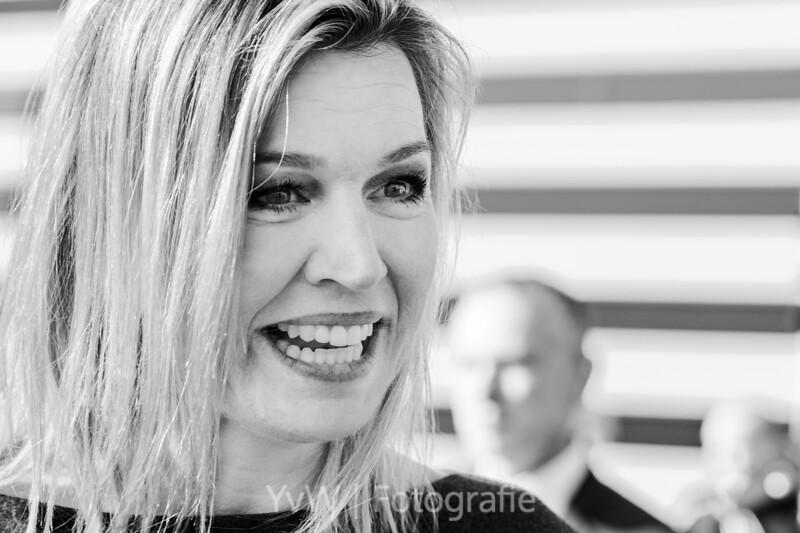 Koningin Máxima bij Gredits Micro Financiering, Amersfoort