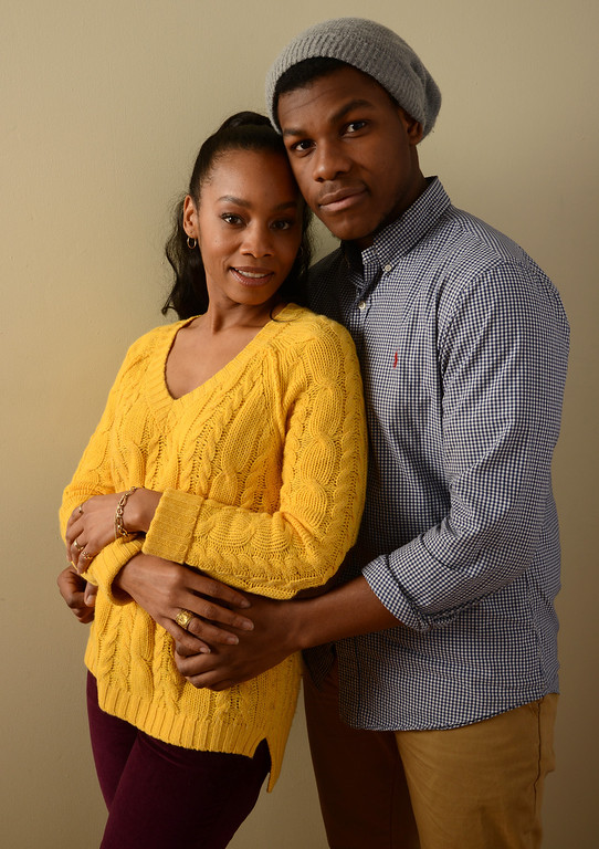 . Actors Anika Noni Rose and John Boyega pose for a portrait during the 2014 Sundance Film Festival at the WireImage Portrait Studio at the Village At The Lift on January 20, 2014 in Park City, Utah.  (Photo by Larry Busacca/Getty Images)