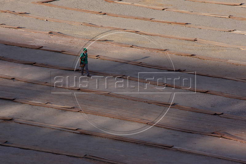 A worker at the Maracana stadium in Rio de Janeiro, Brazil. The stadium is site of both the Confederations Cup 2013 and World Cup 2014. (Australfoto/Douglas Engle)
