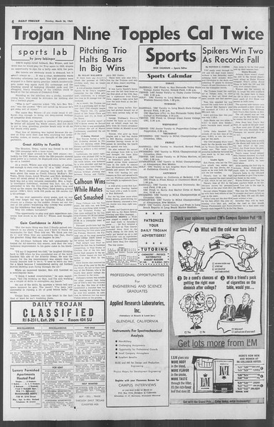 Daily Trojan, Vol. 53, No. 96, March 26, 1962