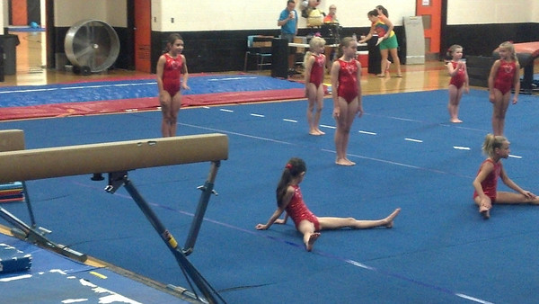 Abbey's Gymnastic show May 2012