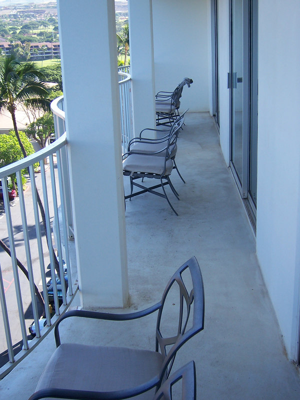 "Our ""Lanai"" (means balcony, I think)."