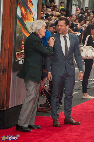 HOLLYWOOD, CA - JULY 15: Actors Hal Holbrook and Dane Cook attend the premiere of Disney's 'Planes: Fire & Rescue' at the El Capitan Theatre on Tuesday July 15, 2014 in Hollywood, California. (Photo by Tom Sorensen/Moovieboy Pictures)