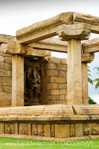 Part of Gangai Konda Cholapuram's Big Temple. The temple is maintained by Archeology Department of India. Pretty well maintained.  Photography: Karthik TK
