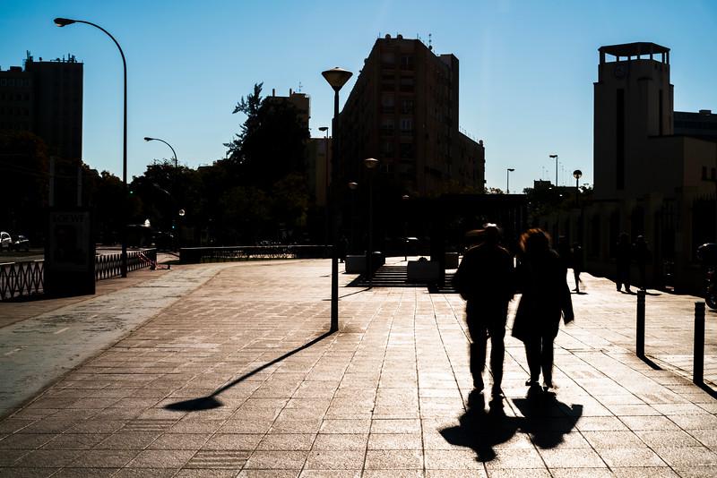 Pedestrians on the street, Seville, Spain.