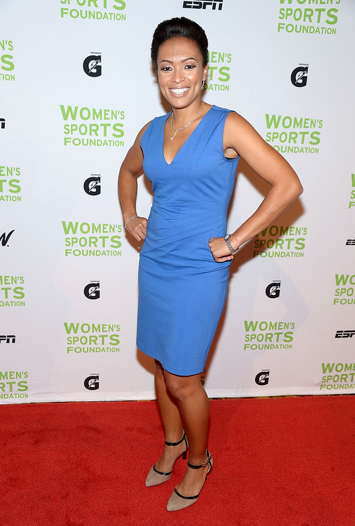 . NEW YORK, NY - OCTOBER 16:  Former Olympic soccer player Angela Hucles attends the 34th annual Salute to Women In Sports Awards at Cipriani, Wall Street on October 16, 2013 in New York City.  (Photo by Michael Loccisano/Getty Images for the Women\'s Sports Foundation)